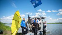 Технология ТГУ по очистке озер от нефти успешно справилась с пластиком